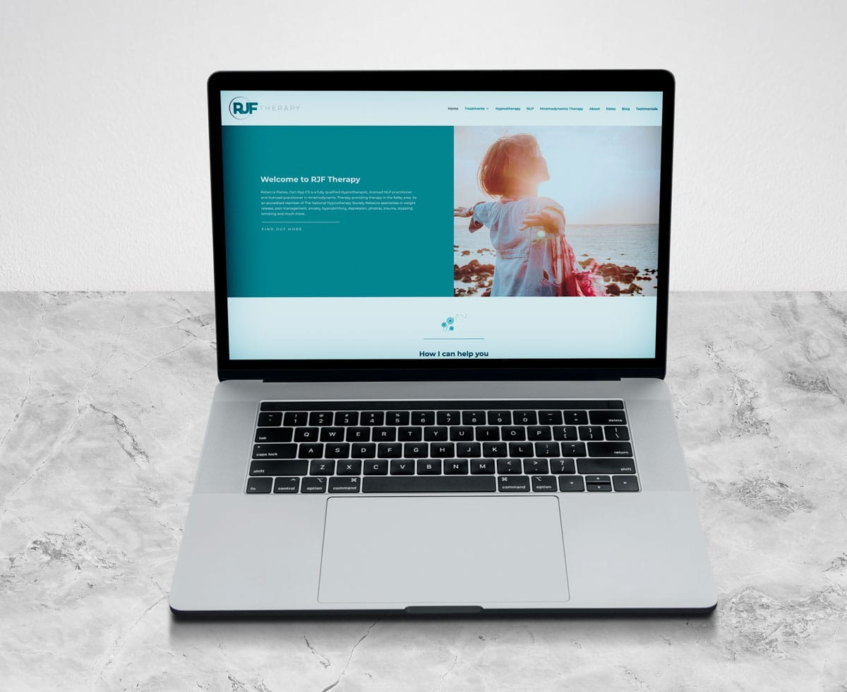 Hypnotherapy Website Design - RJF Therapy