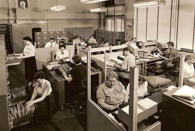 An office from the 1950s